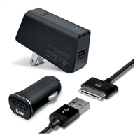 iLuv IAD578BLK MobiSeal Deluxe Combo, USB Charging Kit for GALAXY Tab