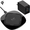 iLuv IAD8X15ULBK 15W Qi Certified V1.2 Fast Wireless Charger