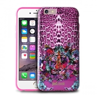 Puro Just Cavalli Antishock Cover for iPhone 6 Leo Tiger Garden Pink