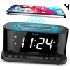 "ILuv Morning Call 5 Qi 1.2"" Jumbo White LED Alarm Clock"
