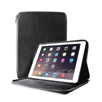Puro Business Real Leather Case for iPad 6 W/Detachable Magnetic Cover Grey