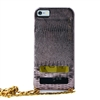 Puro Glam for iPhone 6 Gold Chain Ecoleather Bronze Cover 2 Card Slots
