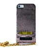 Puro Glam for iPhone 6 Plus Gold Chain Ecoleather Bronze Cover 2 Card Slots