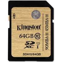 Kingston SDA10/64GB 64GB SDHC Class 10 Flash Card