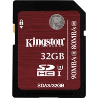 Kingston SDA3/32GB 32GB SDHC Class 3 Flash Card