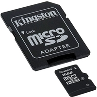 Kingston SDC4/16GB 16GB microSDHC Class 4 Flash Card