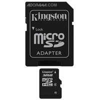 Kingston SDC4/32GB 32GB microSDHC Class 4 Flash Card