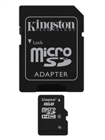 Kingston SDC4/8GB 8GB microSDHC Class 4 Flash Card