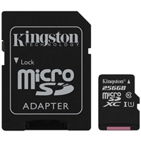 Kingston SDCS/256GB 256GB Canvas Select Class 10 microSDHC Card