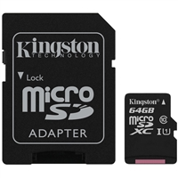 Kingston SDCS/64GB 64GB Canvas Select Class 10 microSDHC Card