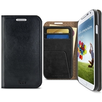 iLuv SS4DIARBK Diary Premium Leather Wallet Case For GALAXY S4