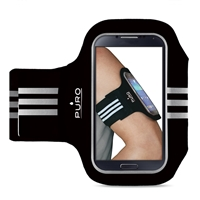 "Puro Universal Armband For Smartphones up to 5"" Black"