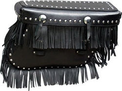 Big Bertha Saddle Bags with Studs, Conchos, and Fringe