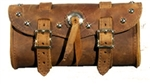 Large Brown Tool Bag with Studs and Concho