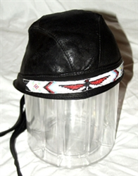 Black Leather Navajo Head Wrap