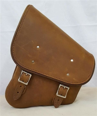 Brown Leather Swing Arm Bag