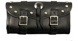 Small Black Studded Concho Leather Tool Bag