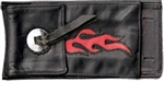 Concho Red Flame Softail Tank Pouch