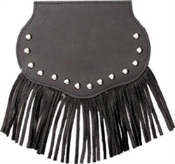 Large Concho, Studded, Fringe, Mud Flap