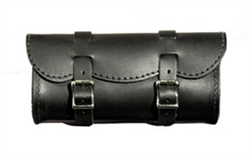 Small Black Leather Tool Bag