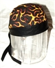 Flame Nylon Leather Head Wrap