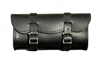 Large Black Leather Tool Bag