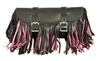 Large Multi Color, Fringe Leather Tool Bag