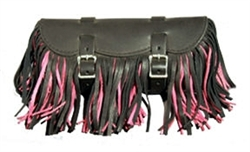 Small Multi Color, Fringe Leather Tool Bag
