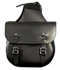 Standard Black Leather Saddle Bags