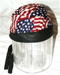 Stars & Stripes Nylon & Leather Head Wrap