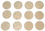 3M 300LSE double-sided adhesive, laser-cut circles/disks and simple shapes