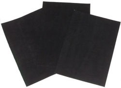 Suede sheet with industrial-strength adhesive backing