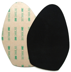 Suede soles with super-strong adhesive backing