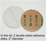 SULOFRI-3M Double-sided adhesive disks, one pair, 2-inch diameter