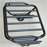 Black Detachable Two-Up Luggage Rack For Harley Touring 1997-2008