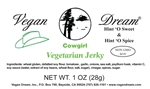 Vegan Dream Cowgirl Vegan Jerky Single Serving.