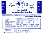 Vegan Dream Teriyaki Vegan Jerky Single Serving.