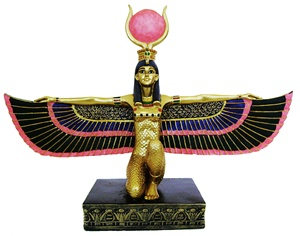 KNEELING WINGED ISIS STATUE