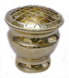 Large Grated Brass Burner