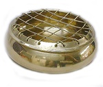 Small Grated Brass Burner