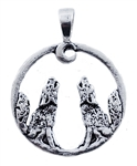 HOWLING WOLVES PENDANT