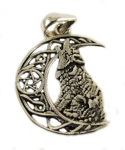 Celtic moon wolf pendant aloadofball Choice Image