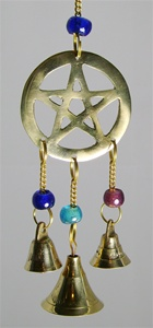 BRASS PENTAGRAM WITH BELLS