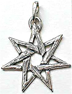 FAERY STAR 7 POINTED STAR PENDANT