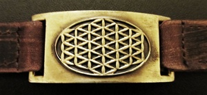 FLOWER OF LIFE LEATHER BAND BRACELET