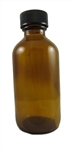 1 oz. Glass bottle w plastic lid