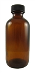 4 oz. Glass bottle with plastic lid