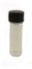 Glass bottle with cap, 1 dram CLEAR