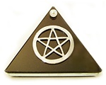 PENTAGRAM BLACK GLASS WISHING PYRAMID