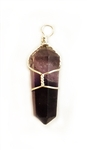 WIREWRAPPED AMYTHEST STONE POINT PENDANT